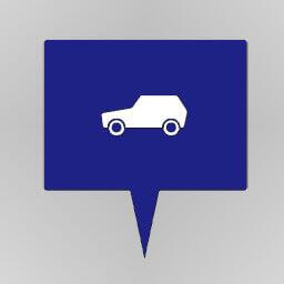 Blue Car: Enterprise Icon