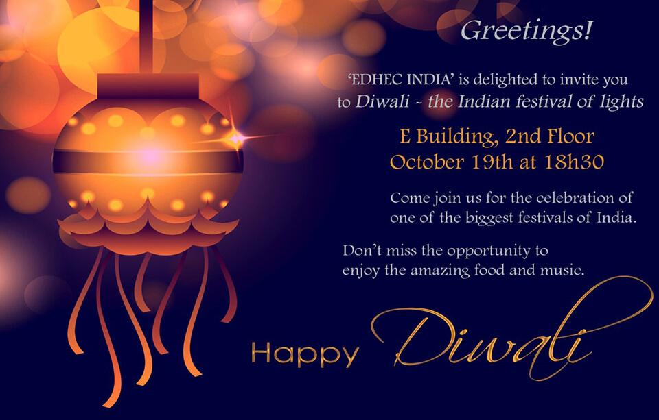 EDHEC India Diwali Poster