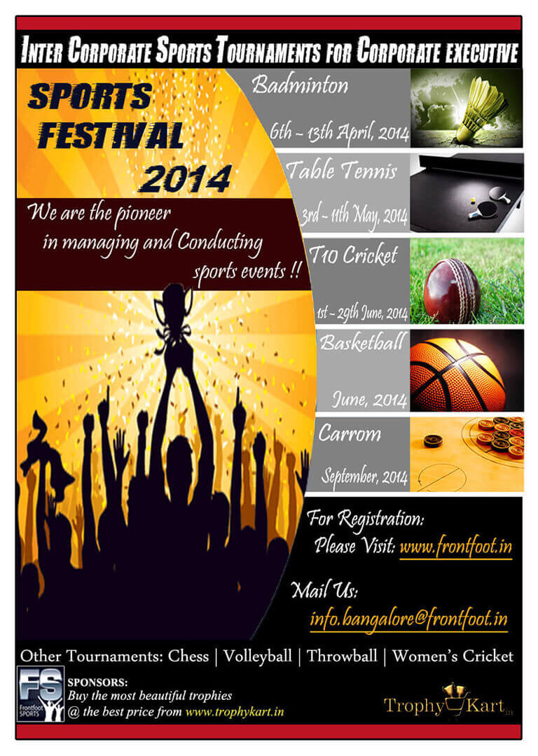 Frontfoot Sports Festival Poster