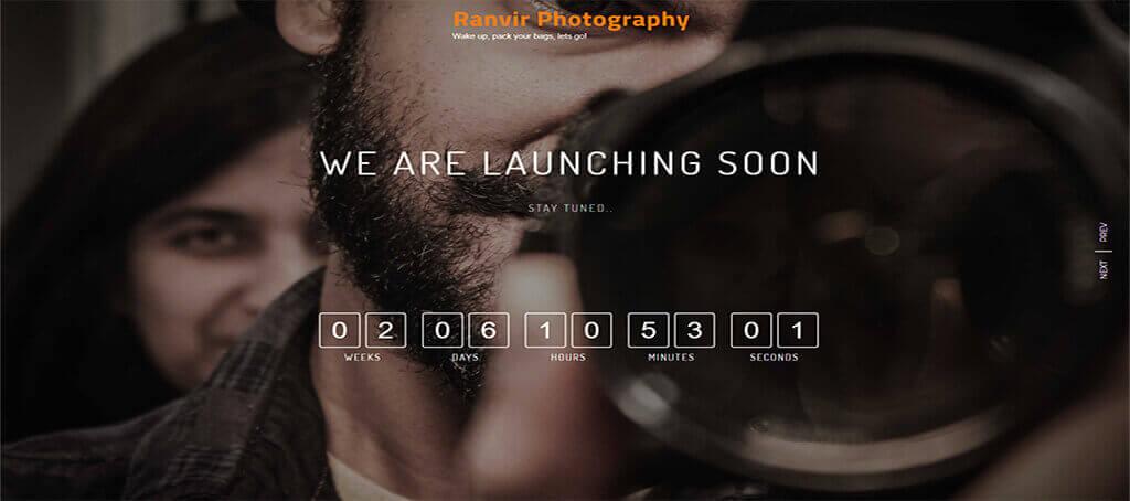 Ranvir Photography Website