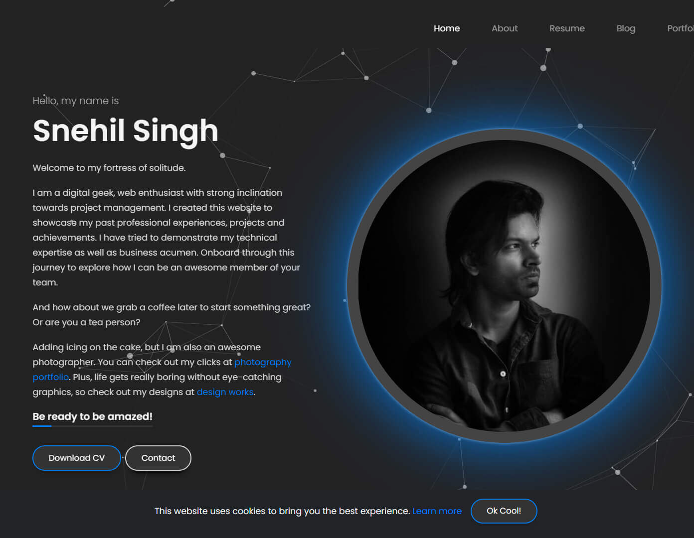 Snehil Singh Website Display Image
