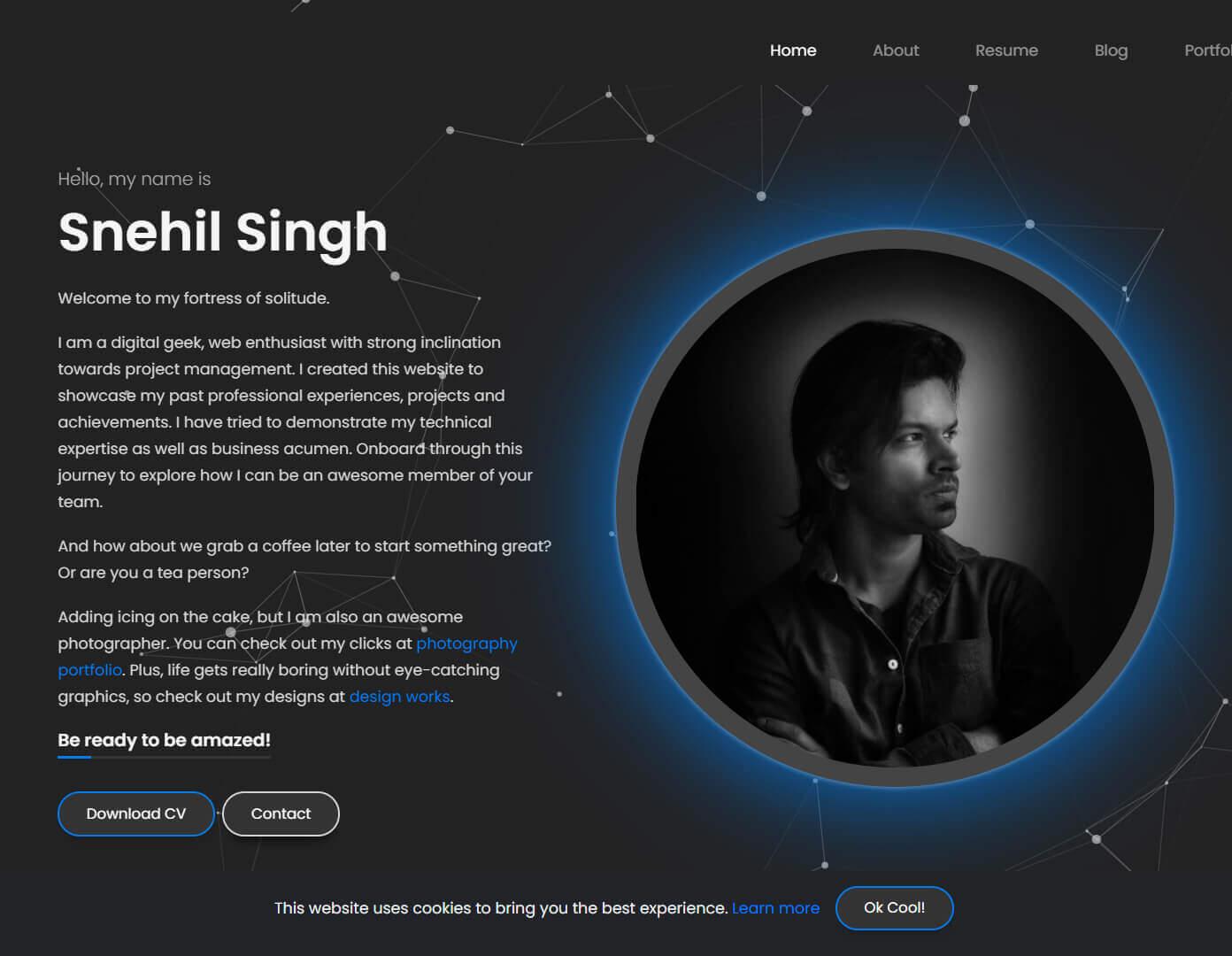 Snehil Singh Website