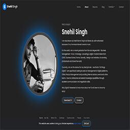 Snehil Singh Website Thumbnail